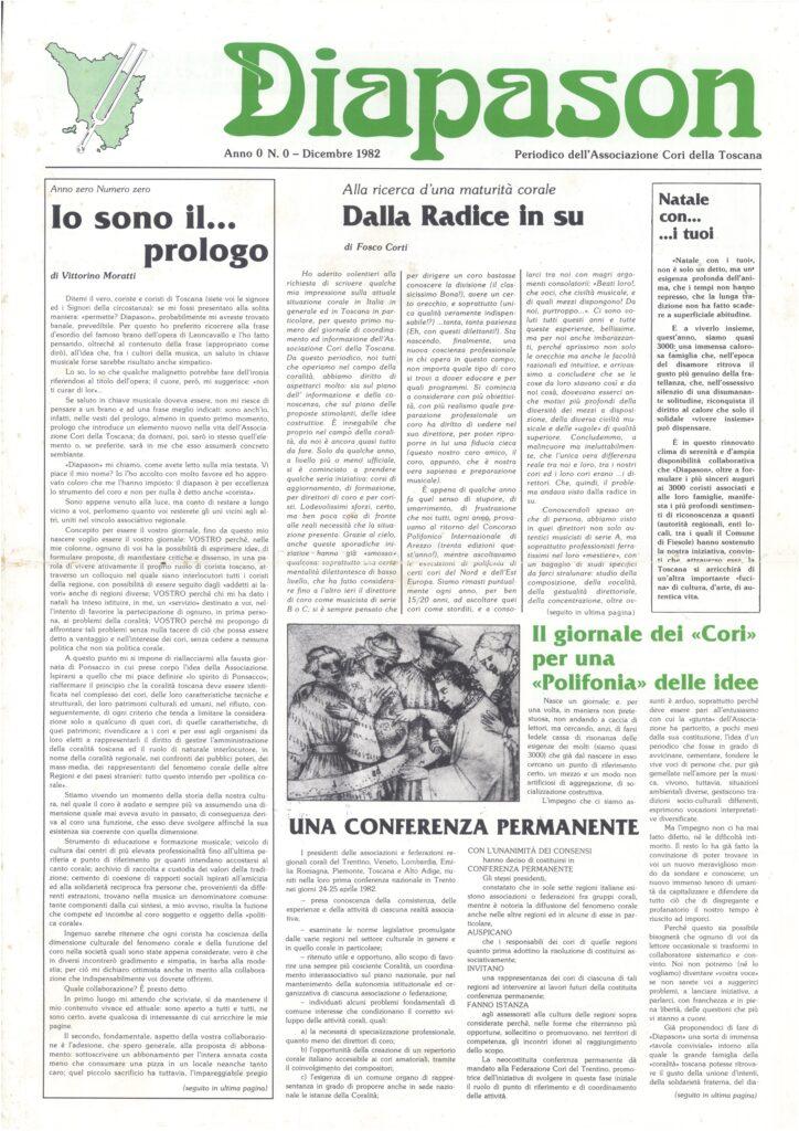 Diapason: l'esperienza di Giancarlo Pagni e l'attualità del progetto lanciato nel 1982
